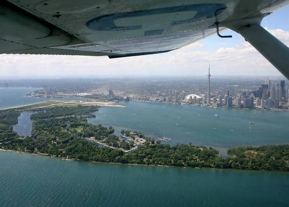 toronto Under the wing of the plane
