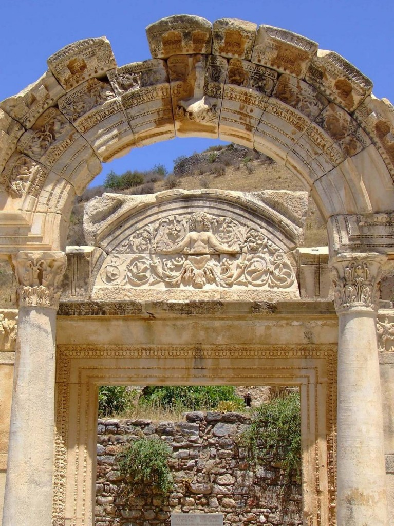 4 Temple of Hadrian Ephesus 2 767x1024 Ephesus The ancient city in Anatolia