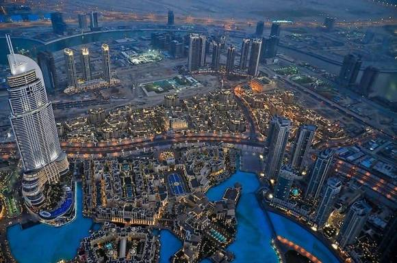 Burj Khalifa dubai skyline 1 Night View from Burj Khalifa