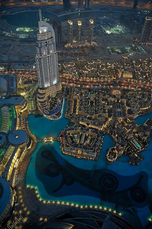 Burj Khalifa dubai skyline 12 Night View from Burj Khalifa