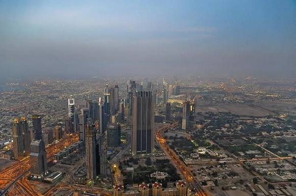Burj Khalifa dubai skyline 17 Night View from Burj Khalifa