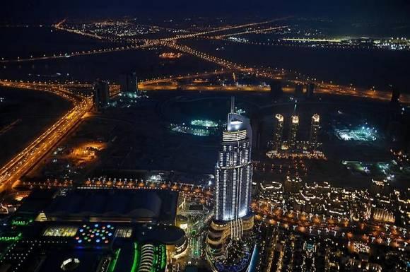 Burj Khalifa dubai skyline 2 Night View from Burj Khalifa