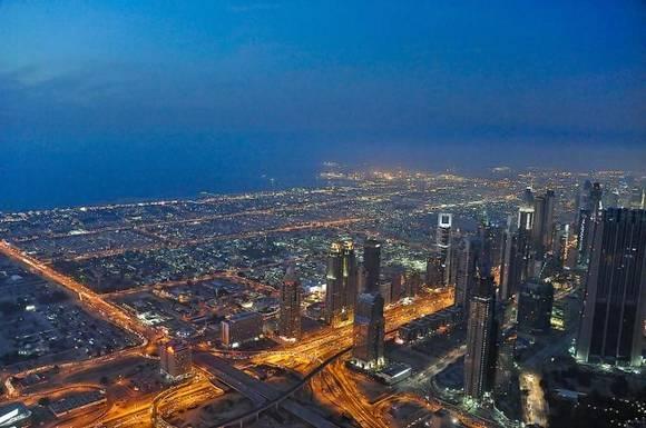 Burj Khalifa dubai skyline 6 Night View from Burj Khalifa