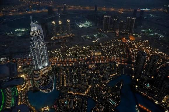 Burj Khalifa dubai skyline 8 Night View from Burj Khalifa