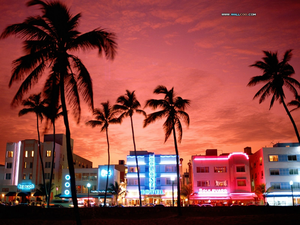 South Beach Neon Nightlife South Beach: A Tropical Location Close to Home